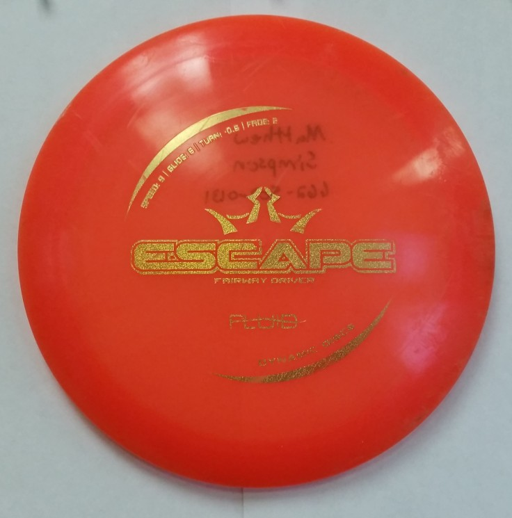 168g Dynamic Discs Fluid Escape